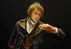 A wax figure of Charles Darwin, whose theories about species have influenced science for centuries.